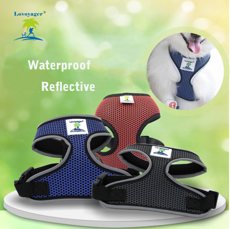 Waterproof Reflective Pet Dog Harness Adjustable Control Walk Collar Safety Strap Vest For Dog Cat