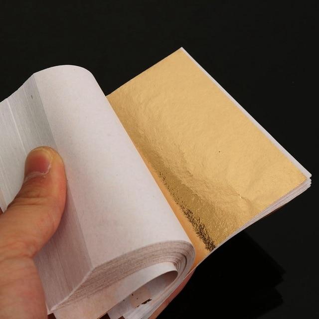 Best Price 100 Sheets Gold Foil Leaf Aluminum Leaf Gilding