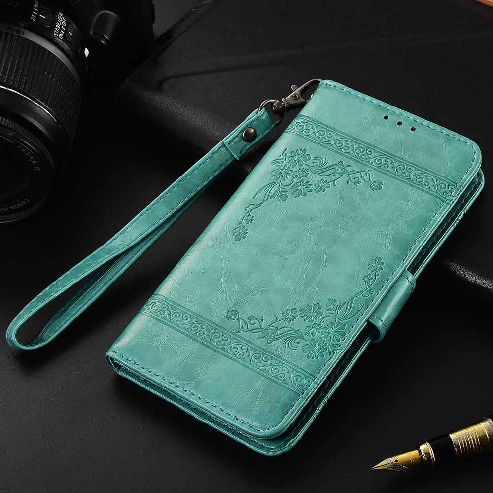 Flip Leather Case For Ginzzu S5001 S5002 Fundas Printed Flower 100% Special wallet stand case with Strap(China)