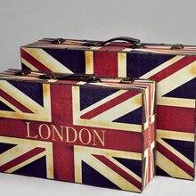 Старинная Деревянная коробка старомодный чемодан