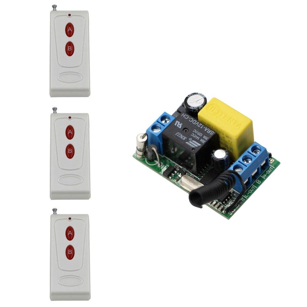 Nuevo Estilo AC220V 1CH RF Sistema de Interruptor de Control Remoto Inalámbrico