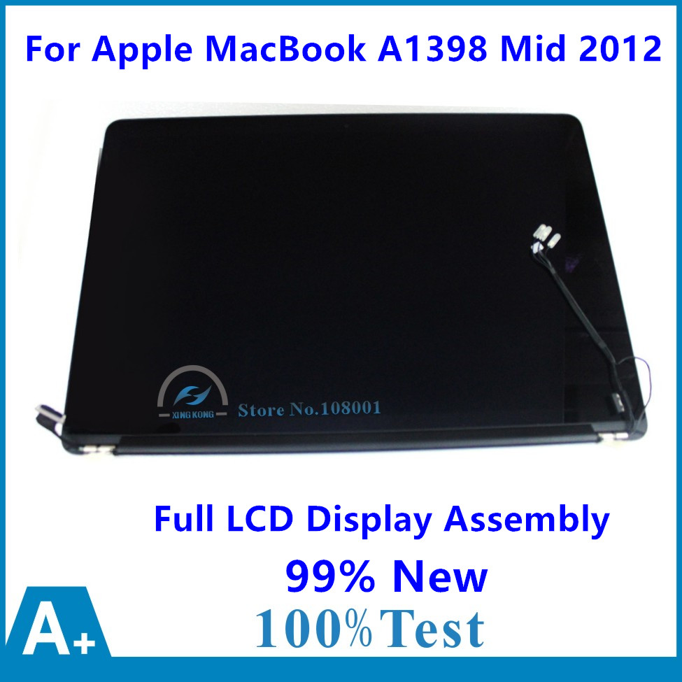 99% New For Apple MacBook Pro 15 Retina A1398 Mid 2012 MC975 MC976 Early 2013 ME664 ME665 Full LCD Display Panel Screen Assembly original new for apple macbook pro 15 4 retina a1398 lcd display full assembly replacement late 2013 mid 2014 year