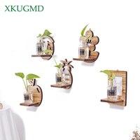벽 교수형 식물 꽃 냄비 수경법 식물 유리 꽃병 실내 정원 수직 꽃 냄비 매달려 화분 홈 인테리어