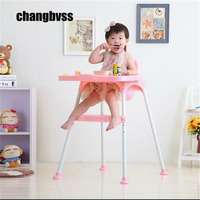 Highchairs Free Shipping high quality Europe standard three colors portable high chair baby plastic feeding chair baby