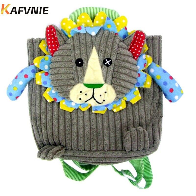 Aged 1-3Corduroy Toddler Backpacks Stress Reliever Design Mini Cartoon Schoolbag Children School Bags Kindergarten Girl Boys Bag
