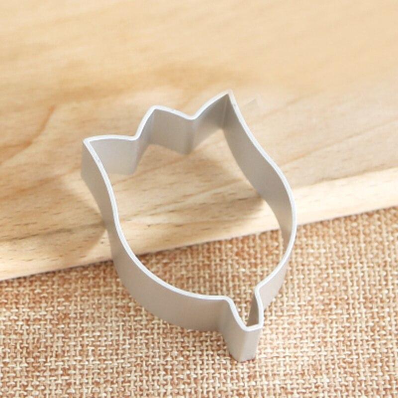 2 piezas con forma de flor de tulipán cortador de galletas de Metal para hornear moldes de decoración de pasteles Fondant herramienta de pastel galletas azúcar pastelería herramientas artesanales DIY