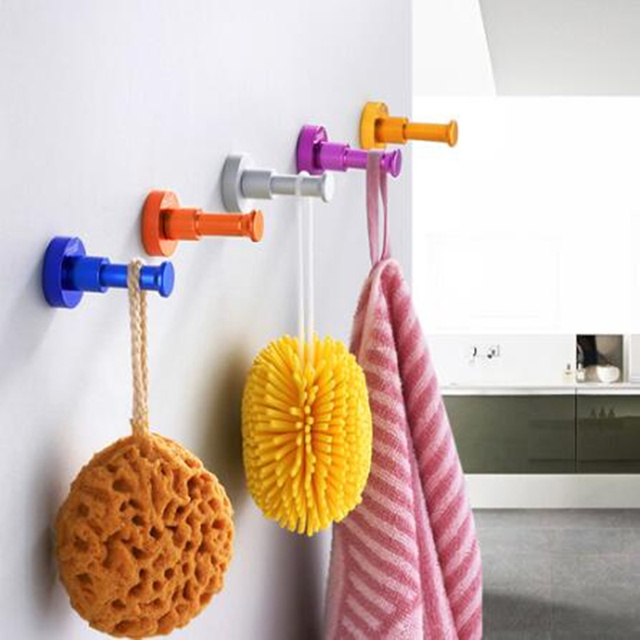 Colorful Multifunctional Aluminum Draining Rack Wall Hook Towel Clothes hanger kitchen bathroom Storage Rack