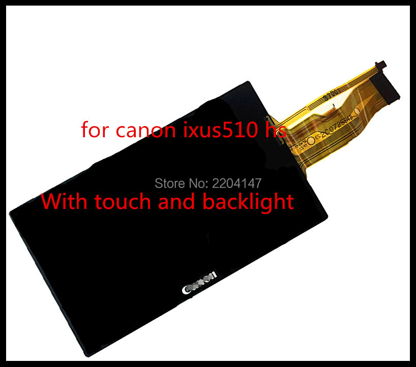 100% New original LCD  For CANON IXUS 510 IXUS510 HS IXY 1 ELPH 530 HS Digital Camera With Backlight + touch canon ixus 190 blue