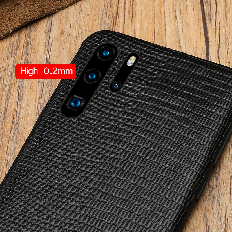 Natural Leather Lizard Grain case for Huawei P30 pro Lite 360 Full protection Cases For mate 20 P20 Pro Lite Honor 8X 20 Pro 10 in Fitted Cases from Cellphones Telecommunications