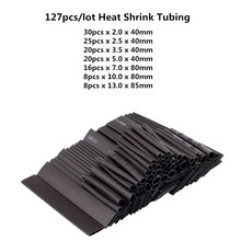 Wrap-Wire-Kit Sleeving Heat-Shrink-Tubing Black-Tube Car-Cable Polyolefin-Tub with 2:1