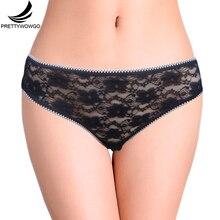 Prettywowgo Lingerie 2017 New Arrival Good Quality Sexy Taransparent Lace Women Cotton Panties 5015