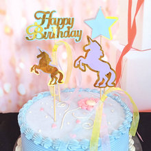 Unicorn Cake Toppers Cupcake Wrappers Birthday Party Cake Decoration Baby Shower Unicorn Party Supplies
