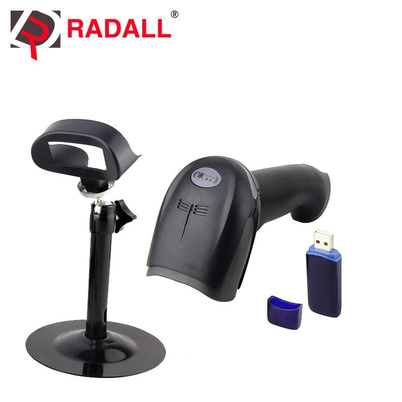 RD-1908 avec stand 1d laser bar code scanner supermarché sans fil scanner lecteur de code barre avec support/stand