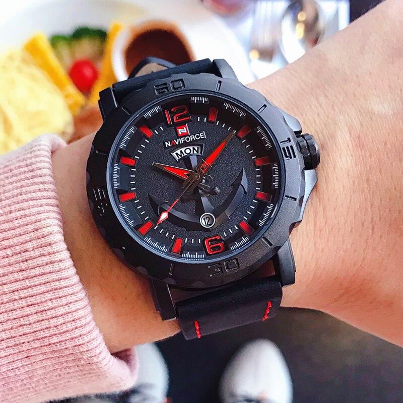 NAVIFORCE Men s Fashion Business Quartz Wristwatches Creative Sports Watches Men Luxury Brand Watch Clock Male NAVIFORCE Men's Fashion Business Quartz Wristwatches Creative Sports Watches Men Luxury Brand Watch Clock Male Relogio Masculino