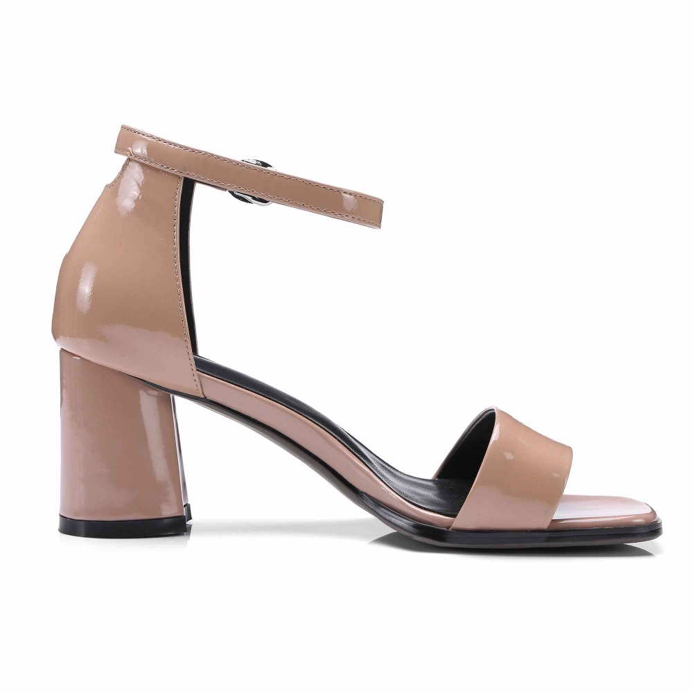 krazing pot new genuine leather nude colors peep toe women buckle strap fairy sweety girl high heels summer beach sandals L3f8