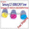Para Samsung CLP-300 Clx-2160 Clx-3160 toner, De Toner para impressora Samsung CLP300 Clx3160 Clx2160 de impressora, Para Samsung 2160, 2BK + C + M + Y