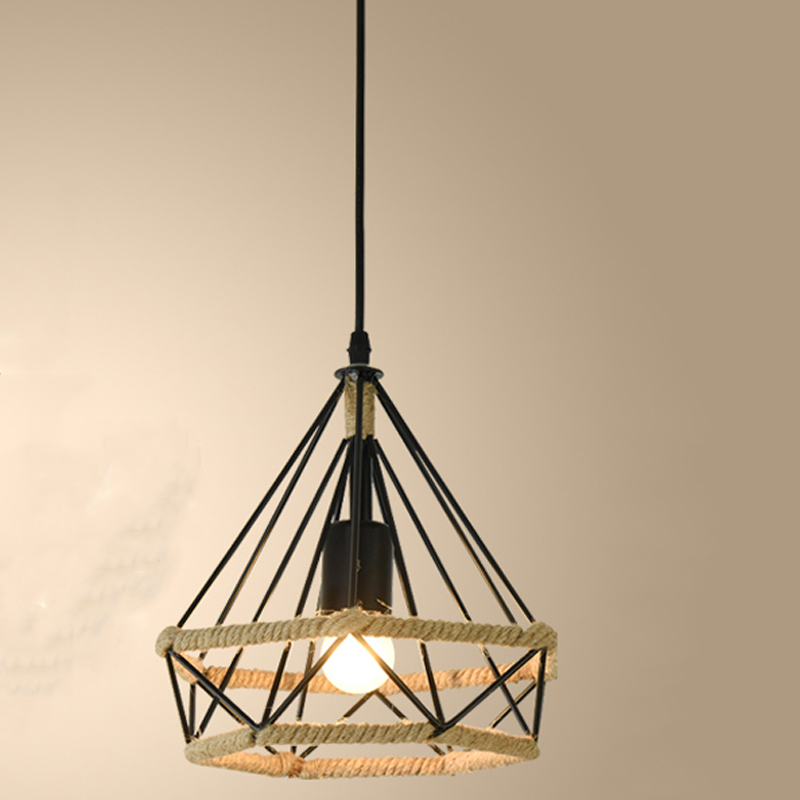 Aspiring Creative Loft Pendant Lamp E27 Iron Chandelier Cafe Bar Club Restaurant Office Aisle Corridor Dining Room Light Pendant Lamp High Quality And Low Overhead Lights & Lighting Pendant Lights