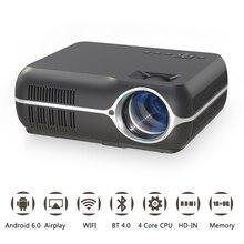 Каждый Gain A10 4200 люмен светодиодный портативный проектор обновленный Android 6,0 WiFi кинопроектор Full HD Домашний кинотеатр видео проектор