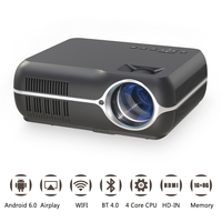 Everyone Gain A10 4200 lumens LED Portable Projector Upgrade Android 6.0 WiFi Cinema Proyetor Full HD Home Theater Video Beamer