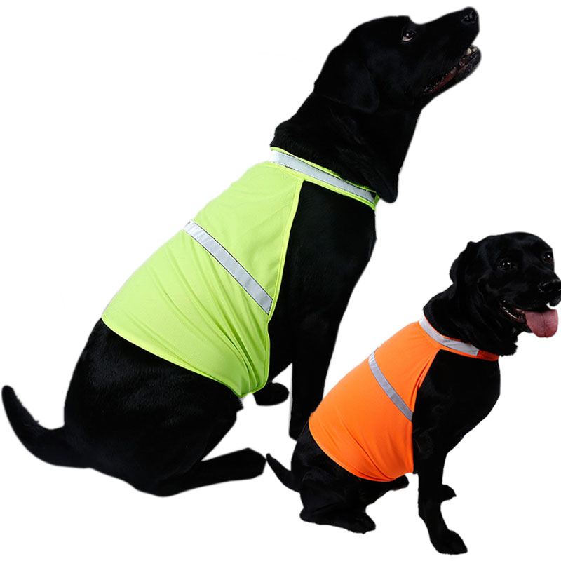 Pet Dog Reflective Vest Fluorescent Security Safe Dog Clothing Coat Dog Costum Safety Luminous Waterproof Pet Clothing S/M/L
