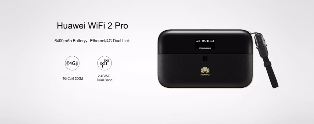 US $140 85 10% OFF|Unlocked Huawei WiFi 2 Pro E5885 E5885Ls 93a Wireless  Mobile Pocket WiFi Router with Ethernet Port 6400mAh power bank NFC-in  3G/4G