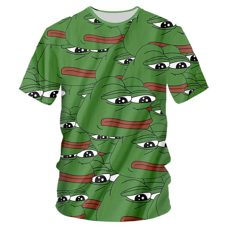 CJLM hommes t-shirt décontracté 2018 nouveauté 3D pleine impression grenouille T-shirts t-shirt Hombre Hip Hop Fitness vêtements homme marque
