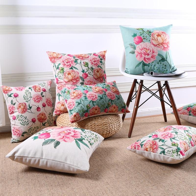 Wholesale Vintage Home Decor: Wholesale Vintage Flowers Pillow Cover Cushion Cover Rose