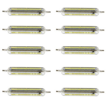 10X R7S three dimming Waterproof LED lamp 78mm 10W 220V SMD 2835 LED Bulb Light Tube perfect Replace Halogen Floodlight lamp