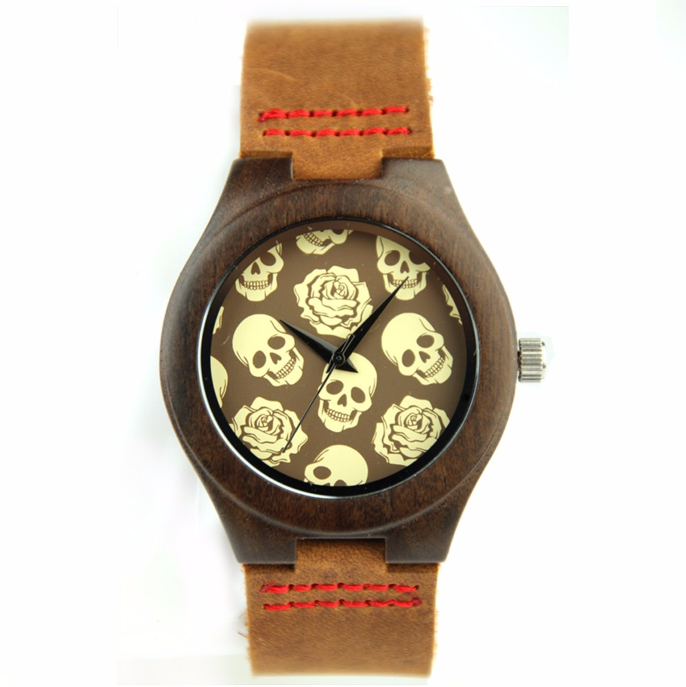 ФОТО New Style Fashion Wooden Watches With Genuine Cowhide Leather Band Luxury Wood Clock For Men Best Gifts Ltem