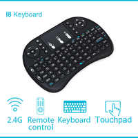 I8 Clavier 2.4 GHz Sans Fil i8 Clavier Touchpad mouche Air souris Pour Android TV box Gaming Mini PC anglais russe espagnol