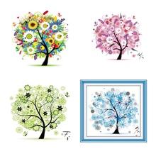 Diamonds Embroidery Spring Summer Autumn Winter Four Seasons Tree Diamond Painting Cross Stitch Mosaic DIY Craft