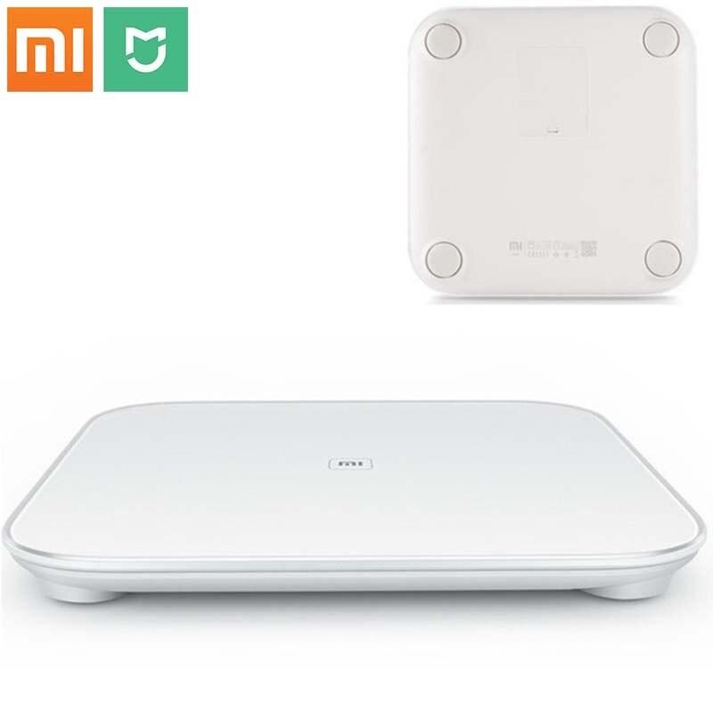 D'origine Xiaomi Échelle Intelligente Mi Smart Santé Pesant Échelle Numérique MiScale Soutien Android 4.4 iOS 7 avec Bluetooth 4.0 Blanc