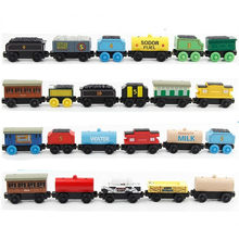 Edwone Cast Wood Train Magnetic Trains Toy Wooden Railway Toys Tank Engine Thomas Track Master For Kids Car Xmas Gift