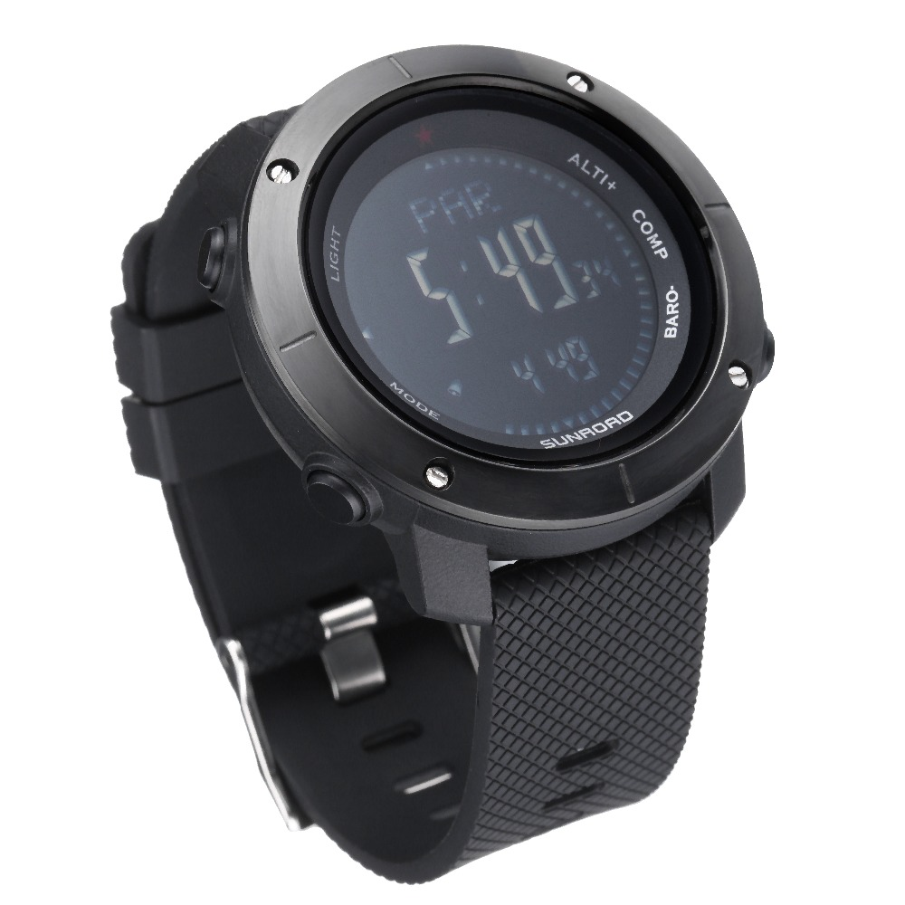 Watches Men's Watches Sunroad New Men Heart Rate Watch Compass Pedometer Altimeter 5atm Waterproof Digital Clamping Charging Sports Watches Relogio