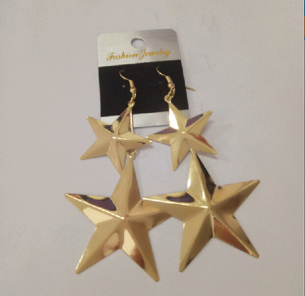 Trendy Jewish Star Earings Yellow Golden Dangle Earrings Jewelry For Women And Punk In Drop From Accessories On