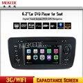 Бесплатная Доставка навигации wince 6.0 Dvd-плеер автомобиля Для SEAT IBIZA авторадио автомобилей dvd навигации BT поддержка 3 Г wi-fi