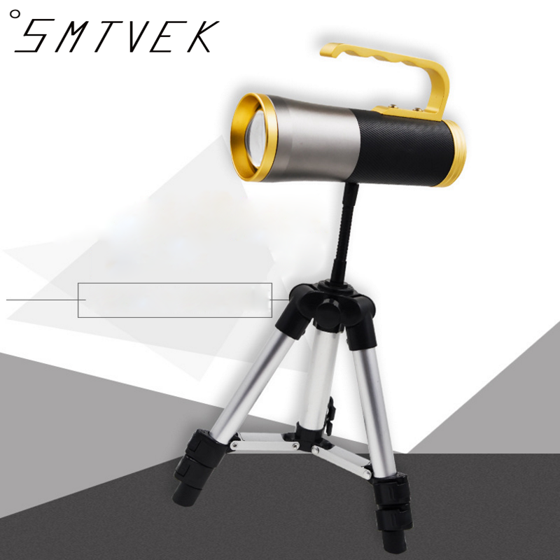 SMTVEK 2017 NEW Rechargeable Outdoor LED Flashlight Zoom lantern Four light source fishing lamp Night fishing light USB Charging