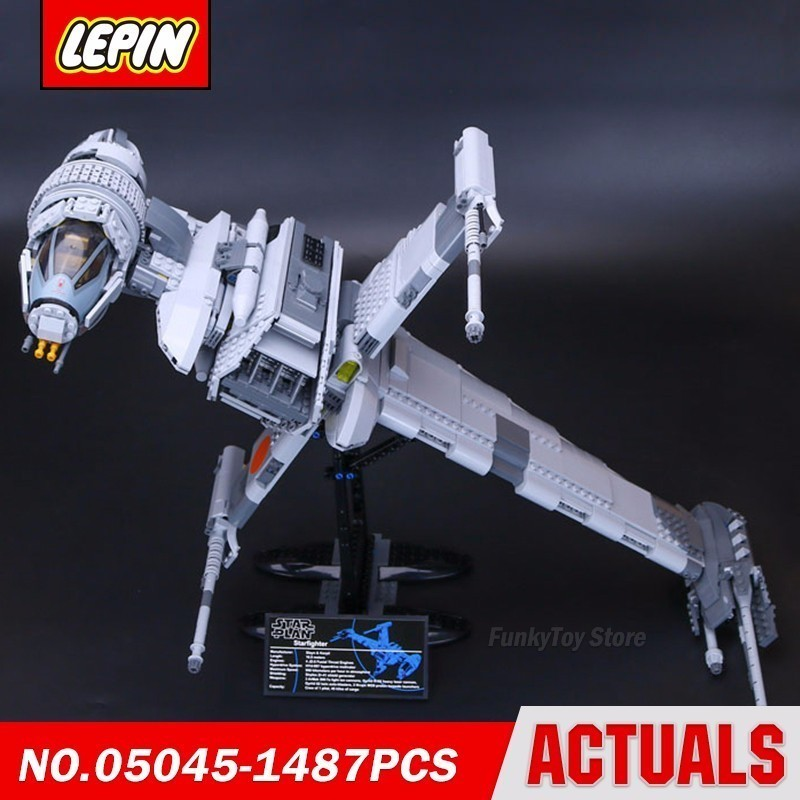 Lepin 05045 B Wing Fighter 10227 Star Series Wars Model Building Block Brick Kits Assembling Gift Toys new lepin 22001 pirate ship imperial warships model building kits block briks toys gift 1717pcs