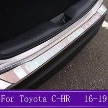 Подходит для Toyota C-HR из нержавеющей стали ультра-тонкий бампер для задней двери защитная пластина Накладка отделка украшения 2016 2017 2018 2019