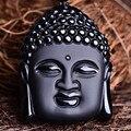 Bead Curtain Natural Obsidian Scrub Pendant Black Head Pendants Transhipped Buddha Head For Women Men pendants Jade Jewelry Gift