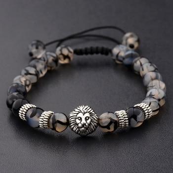 Amader Lion Gold & Silver Natural Stone Beaded Bracelets
