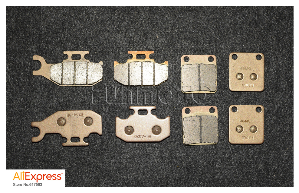 все цены на 4 PAIRS BRAKE PAD OF HISUN700 ATV,IT ALSO SUIT FOR  MASSIMO/ SUPERMACH /COLEMAN/ MENARDS YARDSPORT UTV онлайн