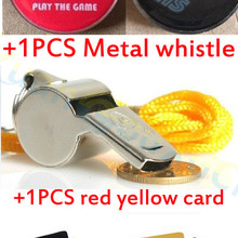 Edge-Finder Coin-Toss Soccer Football Yellow-Card Referee-Side Metal Red Pick Whis Professional