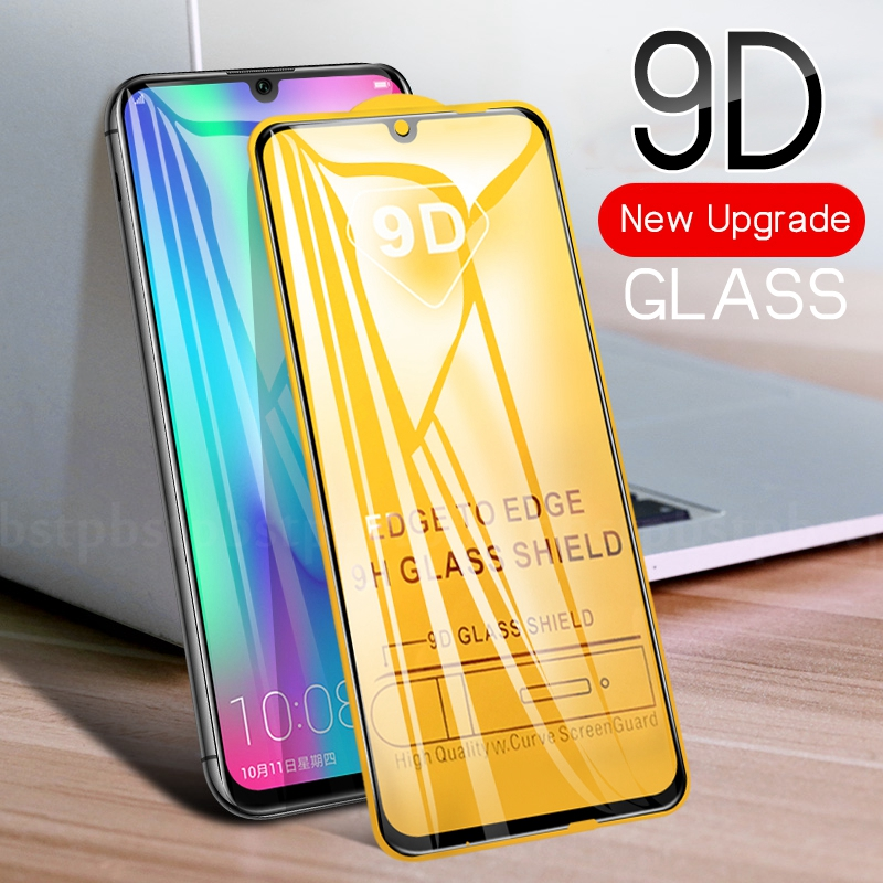 9D Screen Protector Glass For Huawei Honor 8X 8S 9 10 Lite Nova 4e P30 Lite Y5 Y9 Prime P Smart Z 2019 Protective Tempered Glass