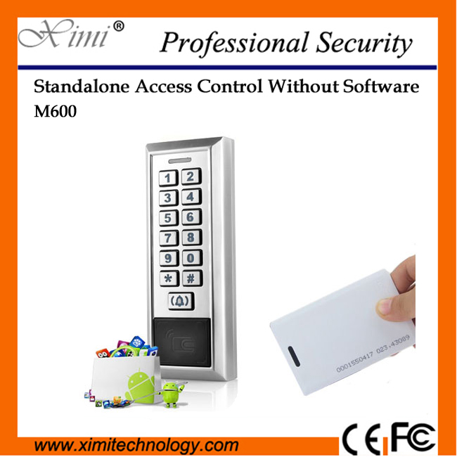 Metal Face/Ip68 Waterproof 12Vdc Single Door Access Control System 2000 User M600 Rfid Card Proximity Door Access Control metal rfid em card reader ip68 waterproof metal standalone door lock access control system with keypad 2000 card users capacity
