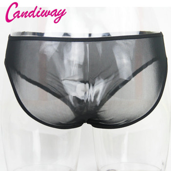 BDSM Sexy Silk Strong Man Penis Hole Gstrings Translucent Pant Bandoge Thong Handjob Sex Game For Man Toys Sex Product Role Play