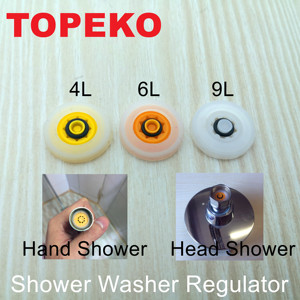 Free Shipping-Water Saving Shower Washer Regulator Set(TP-B01)-3pcs Set-30%-70% Money Saving