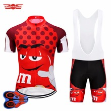 2018 Funny Cycling Jerseys Short Sleeve Mens MTB Mountain Bike Clothing Road Bicycle Wear Breathable Bib Gel Set Maillot Culotte
