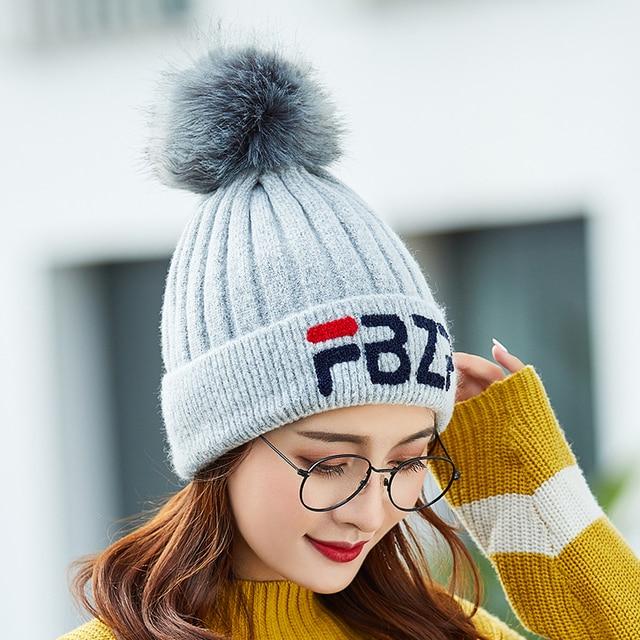 dd6d6707a7d women hat winter skullies knitted wool hat plus velvet hip hop cap gorro  thicker bonnet beanie for men hats touca