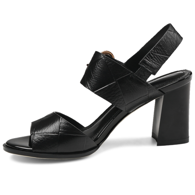Genuino Verano Tamaño Beige Casual Bolso 34 43 Para Mujer 2018 Cuero black Gran white De Sandalias Ly428 Enmayer x8XqZPx